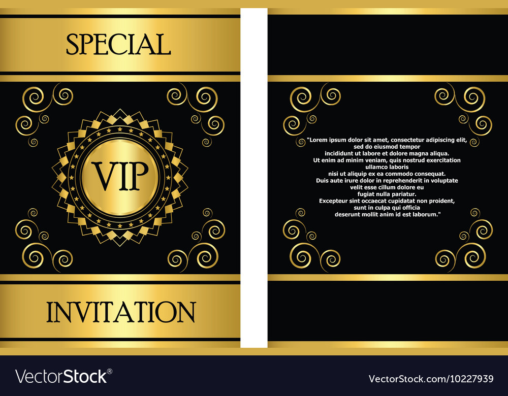 Template Vip Invitation Card