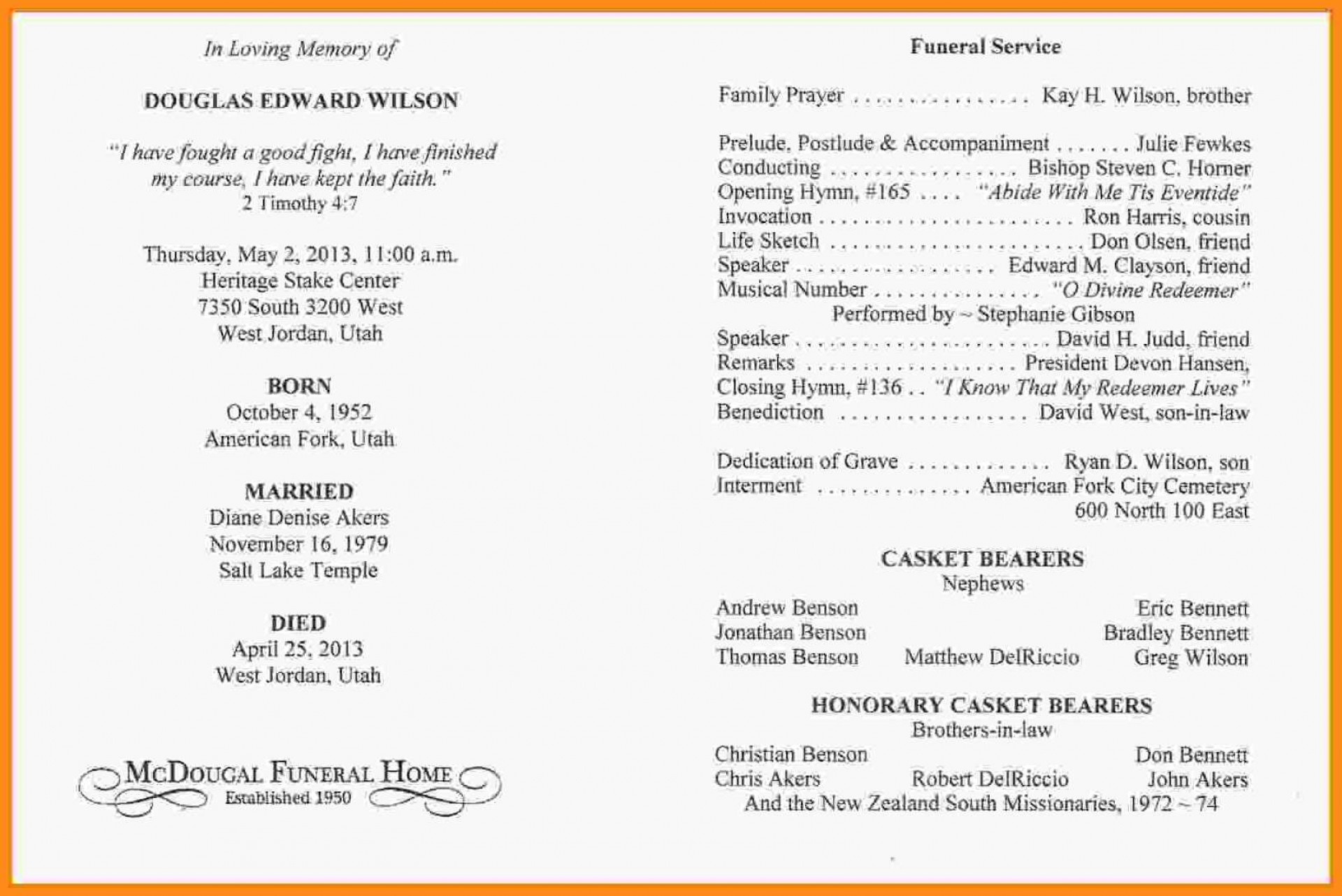 Template Word Free Editable Catholic Funeral Program Template