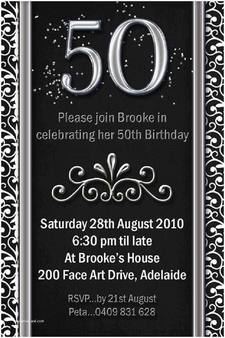 Templates For Birthday Invitations 50th