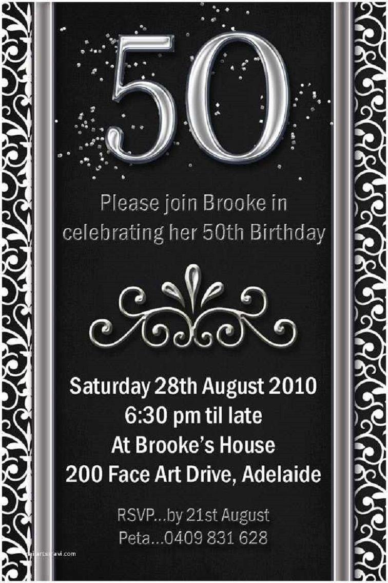 Templates For Birthday Invitations 50th