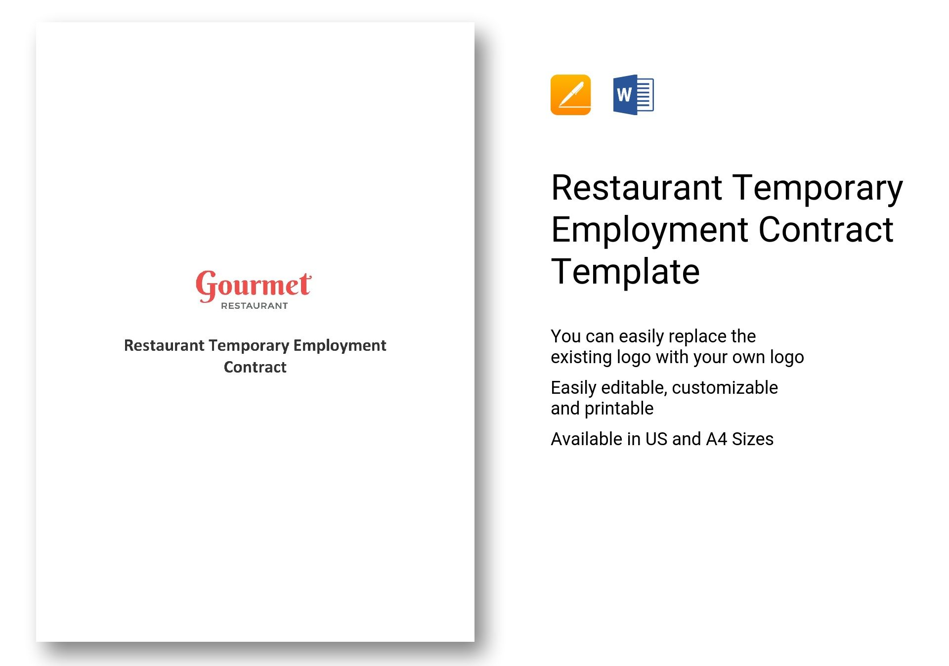 Temporary Employment Contract Template Word