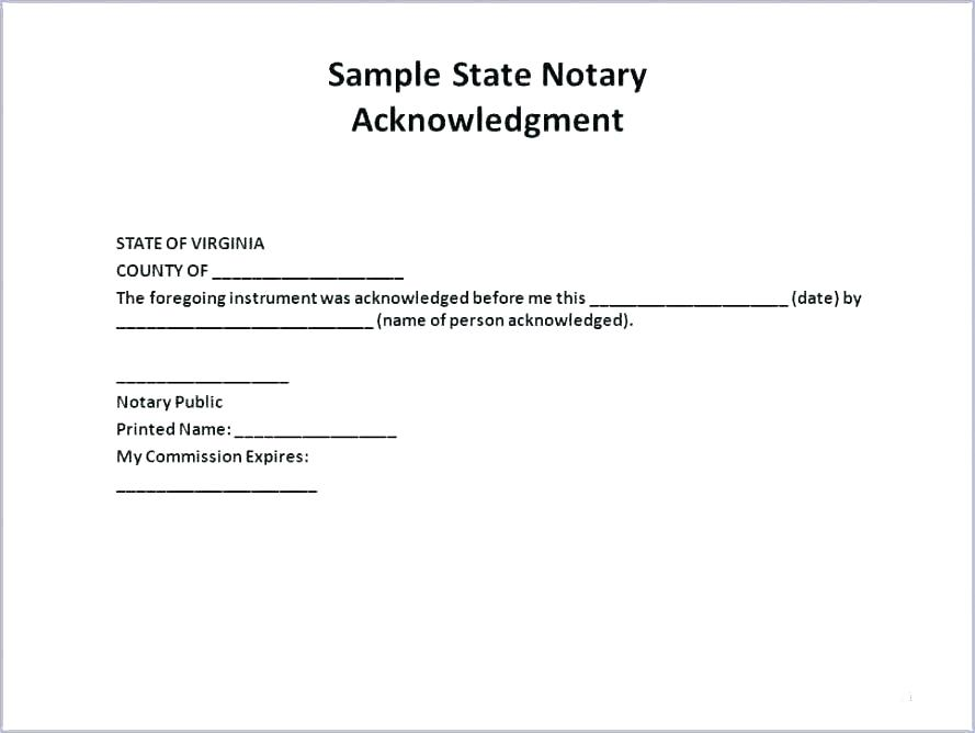 Texas Notary Template