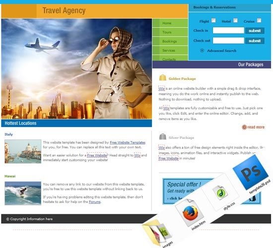 Tourism Website Templates Free Download