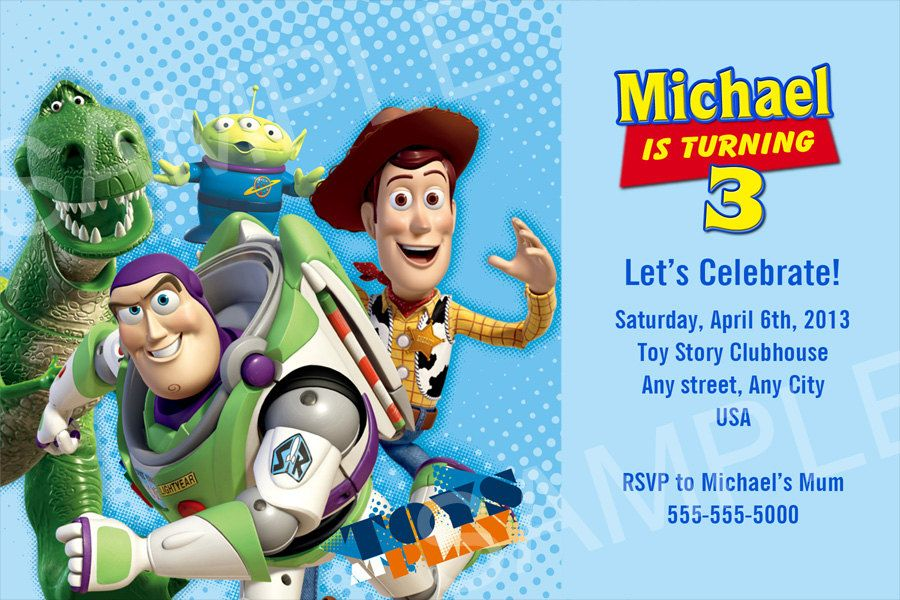Toy Story Birthday Invitations Template Free