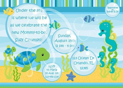Under The Sea Baby Shower Invitation Templates