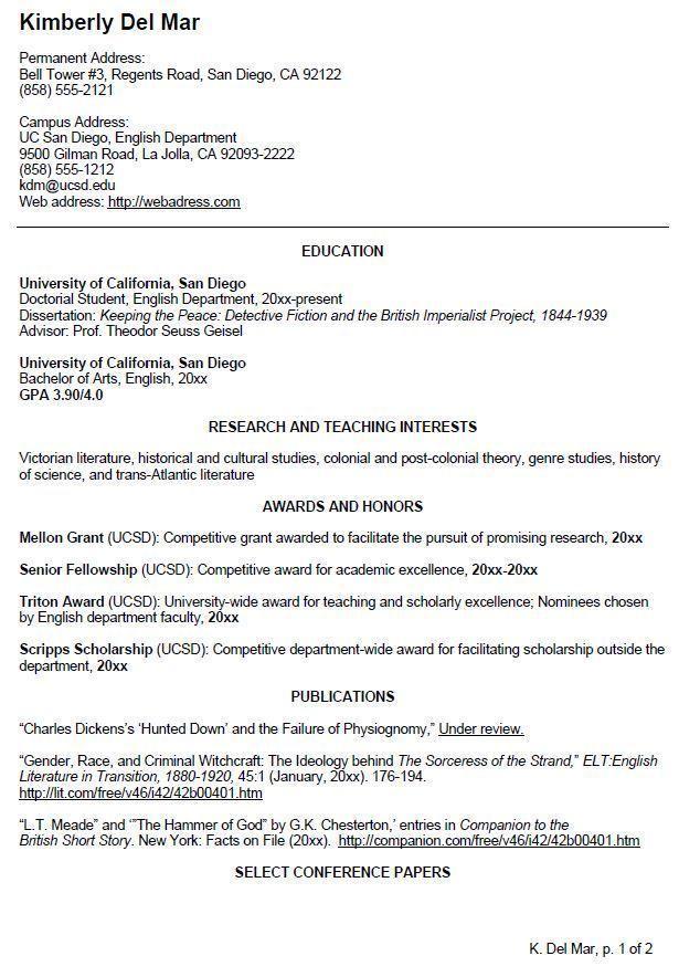 Undergraduate Student Resume Template