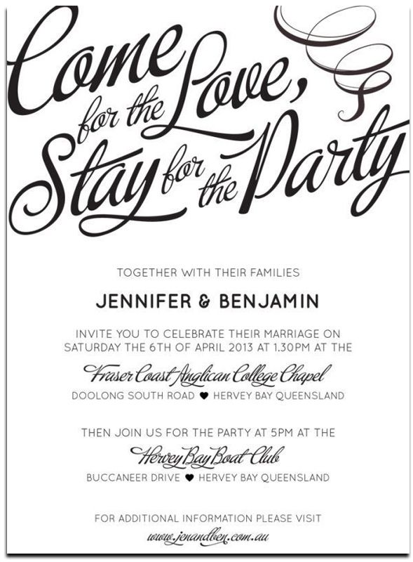 Unique Wedding Invitation Wording Templates