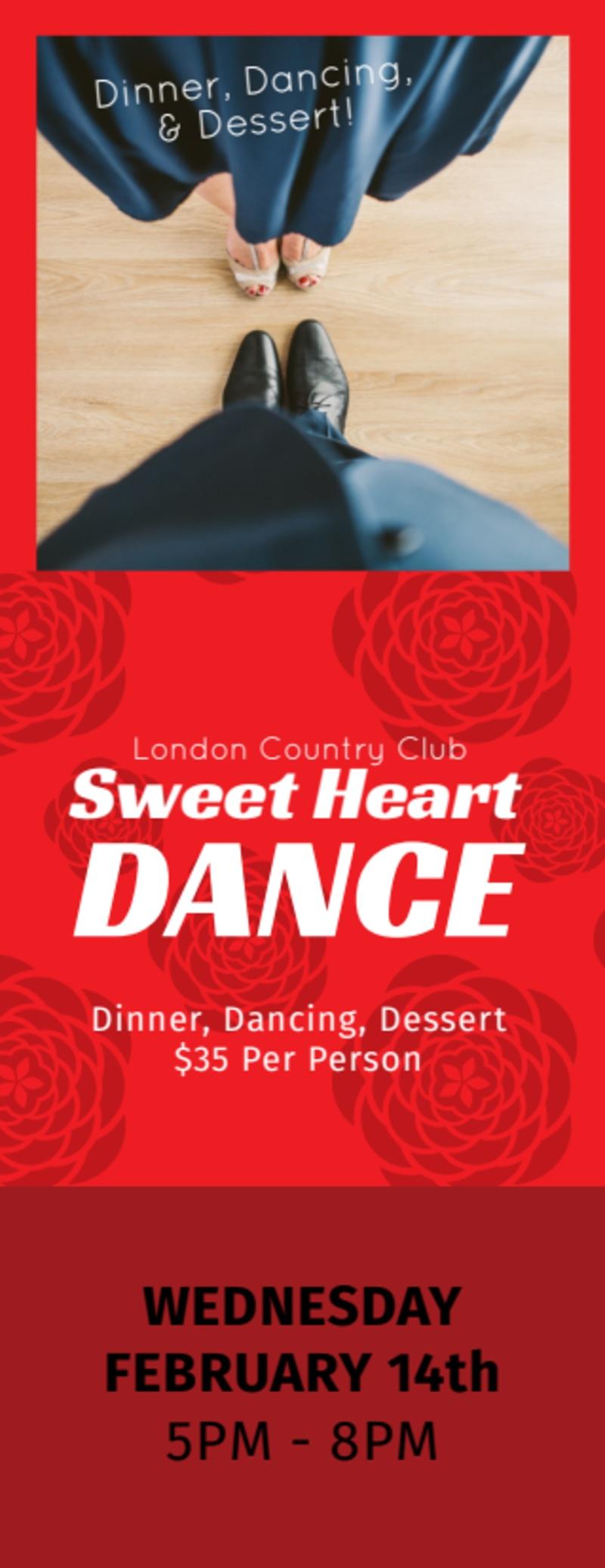 Valentine's Dance Ticket Template