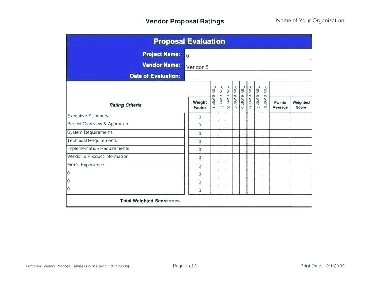 Vendor Assessment Template Excel