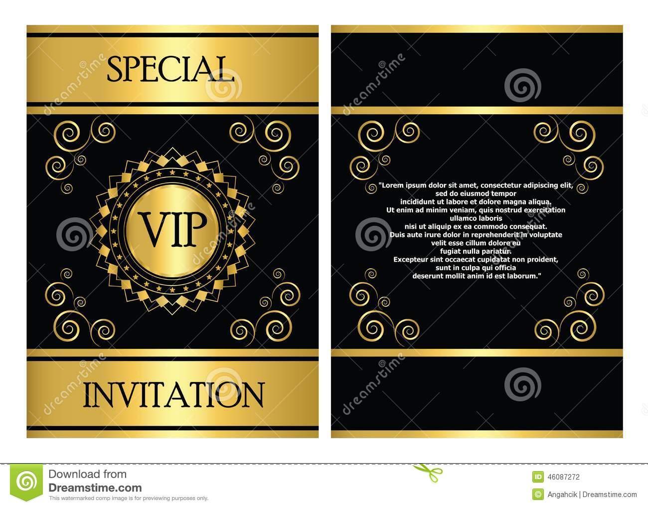 Vip Event Invitation Card Template