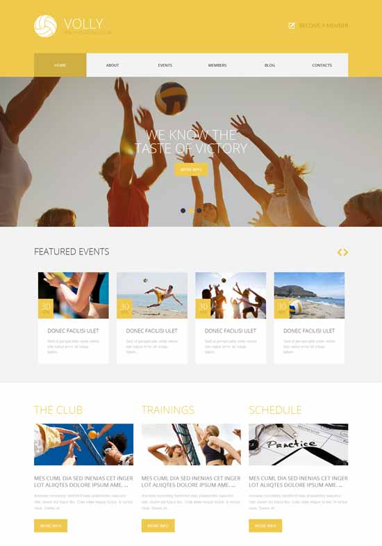 Volleyball Website Templates Free