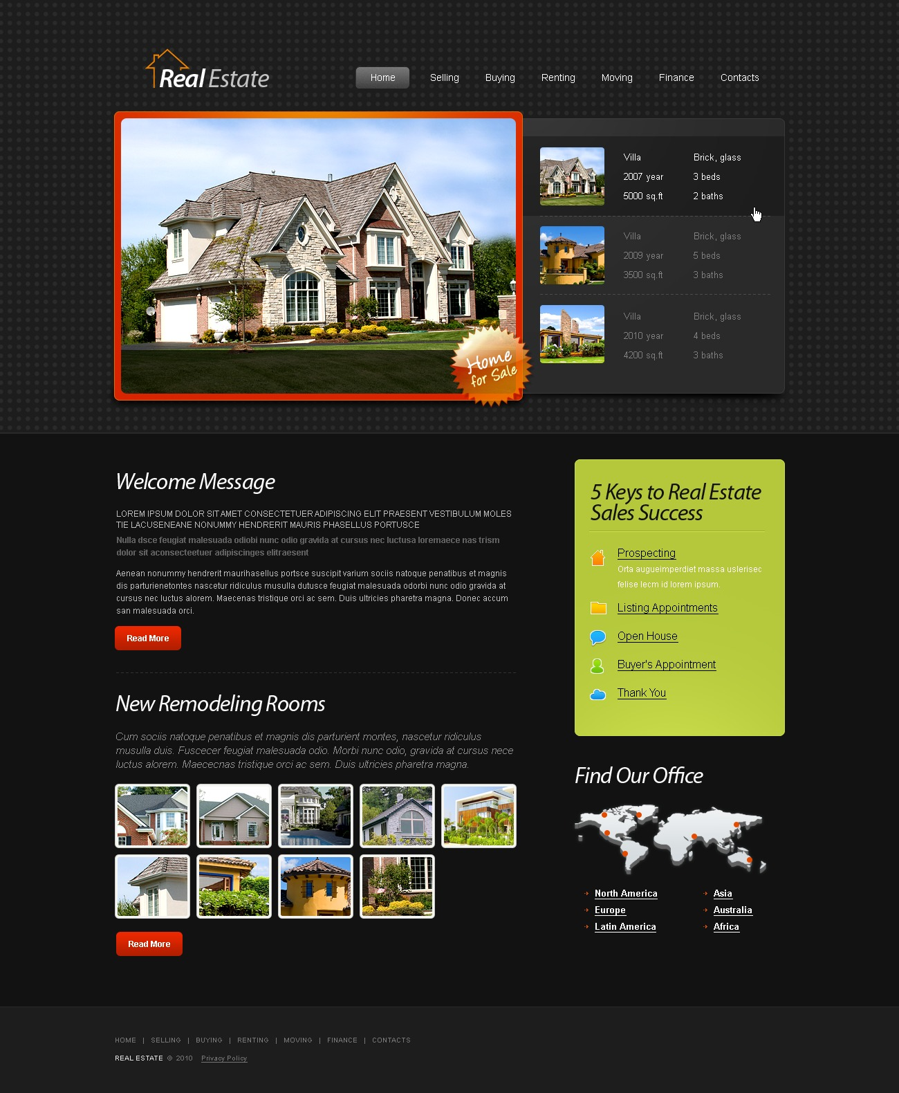 Free Html5 Template Real Estate Website Website Template