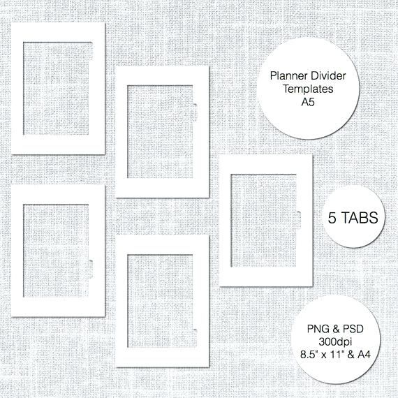 Wedding Binder Tabs Template