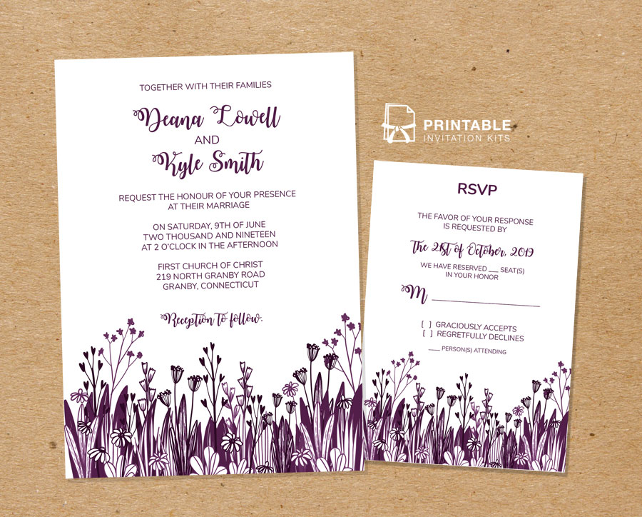 Wedding Invitation Rsvp Templates