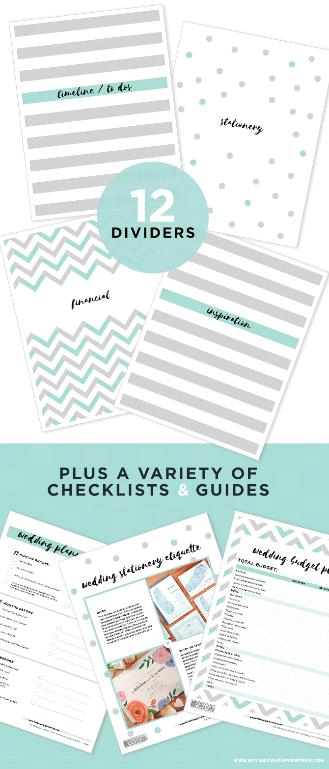 Wedding Planning Binder Templates