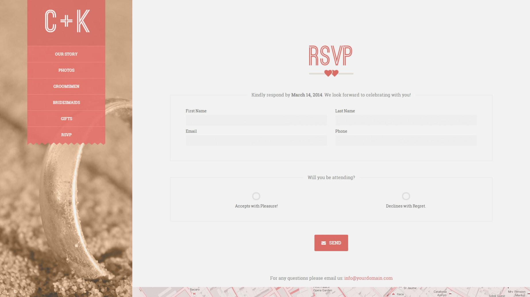 Wedding Rsvp Google Form Template
