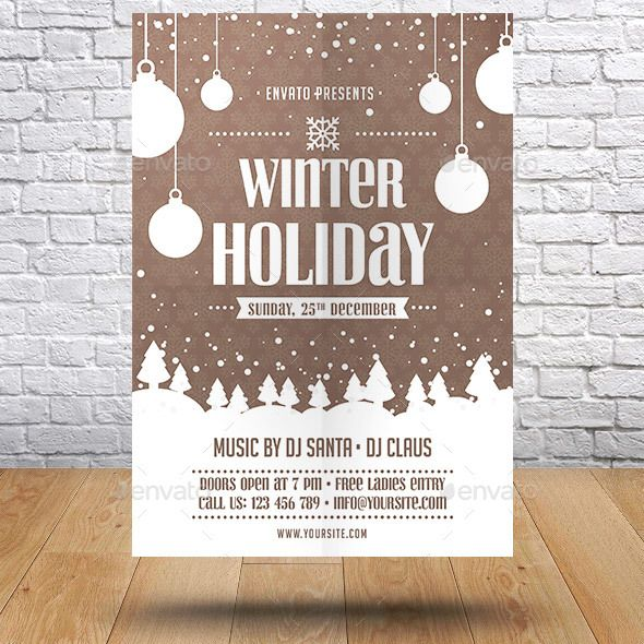 Winter Holiday Event Flyer Template