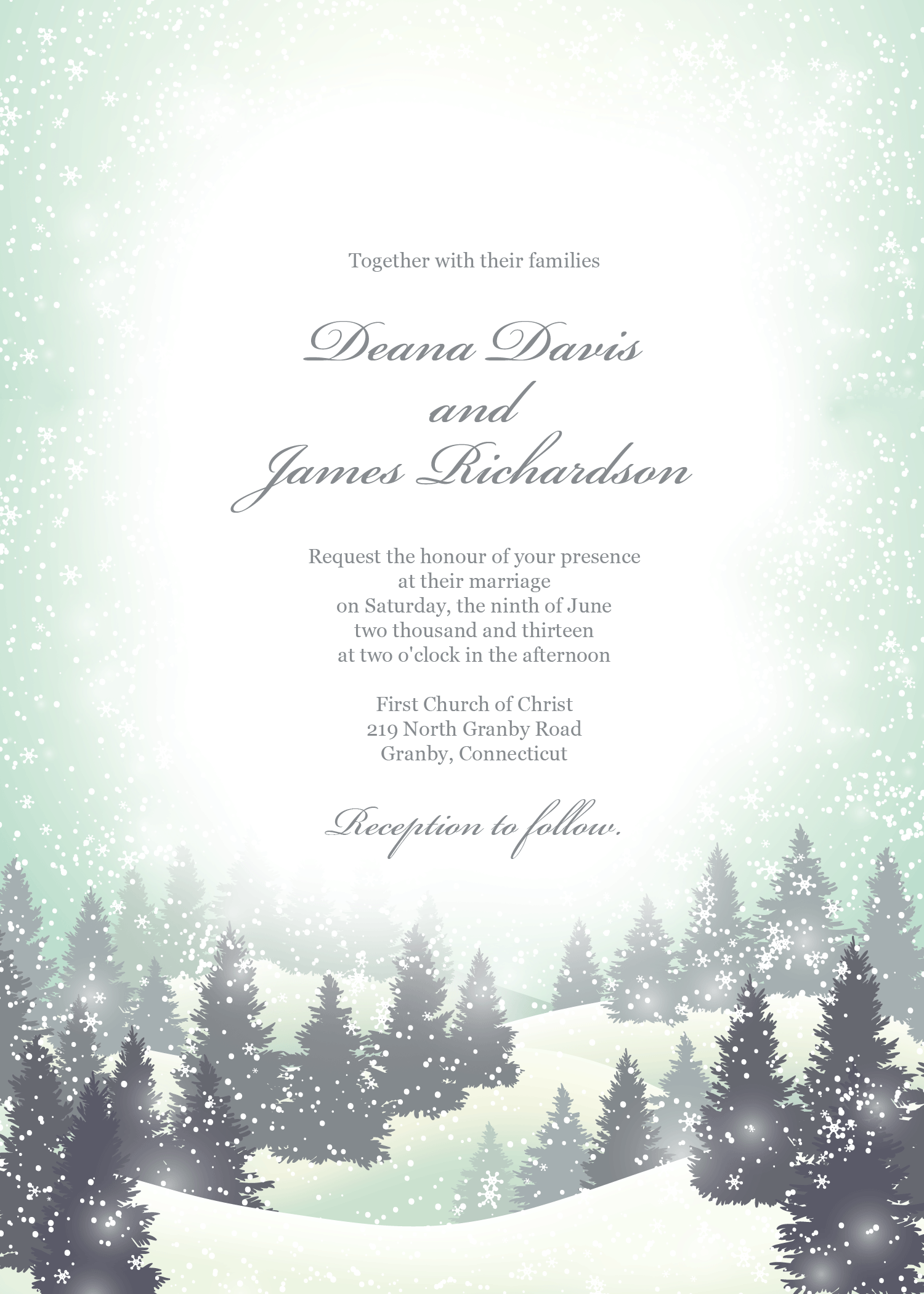 Winter Wonderland Invitation Template Free