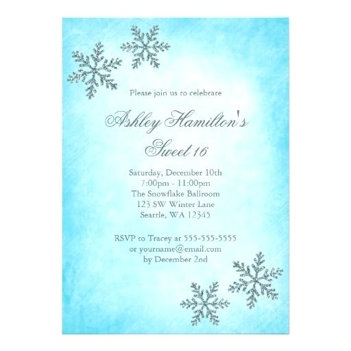 Winter Wonderland Party Invitation Template Free