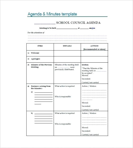 Word Document Club Meeting Minutes Template