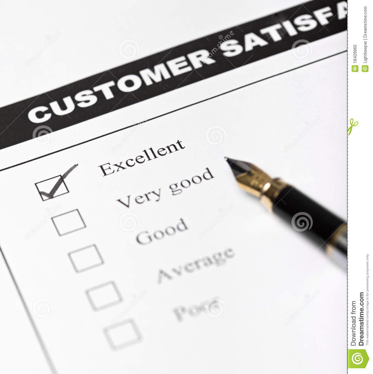 Word Document Customer Satisfaction Survey Template Free