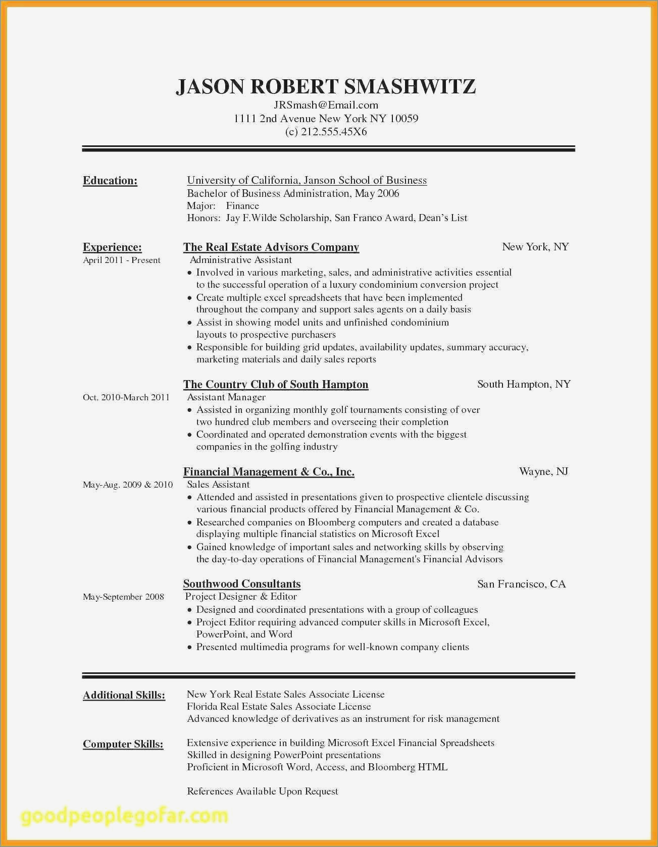 Free Resume Template Download Word Document