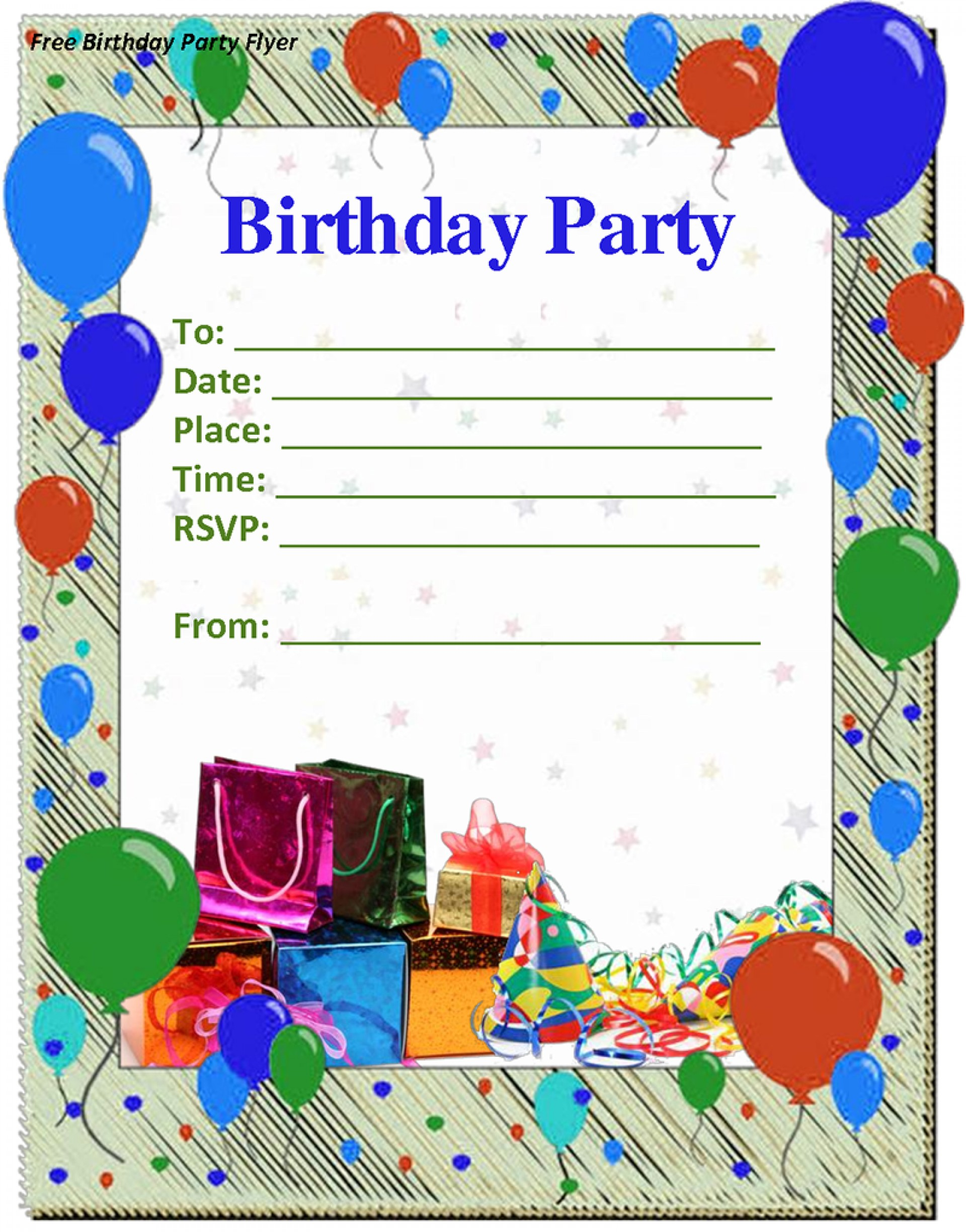 Word Editable Birthday Invitations Templates Free