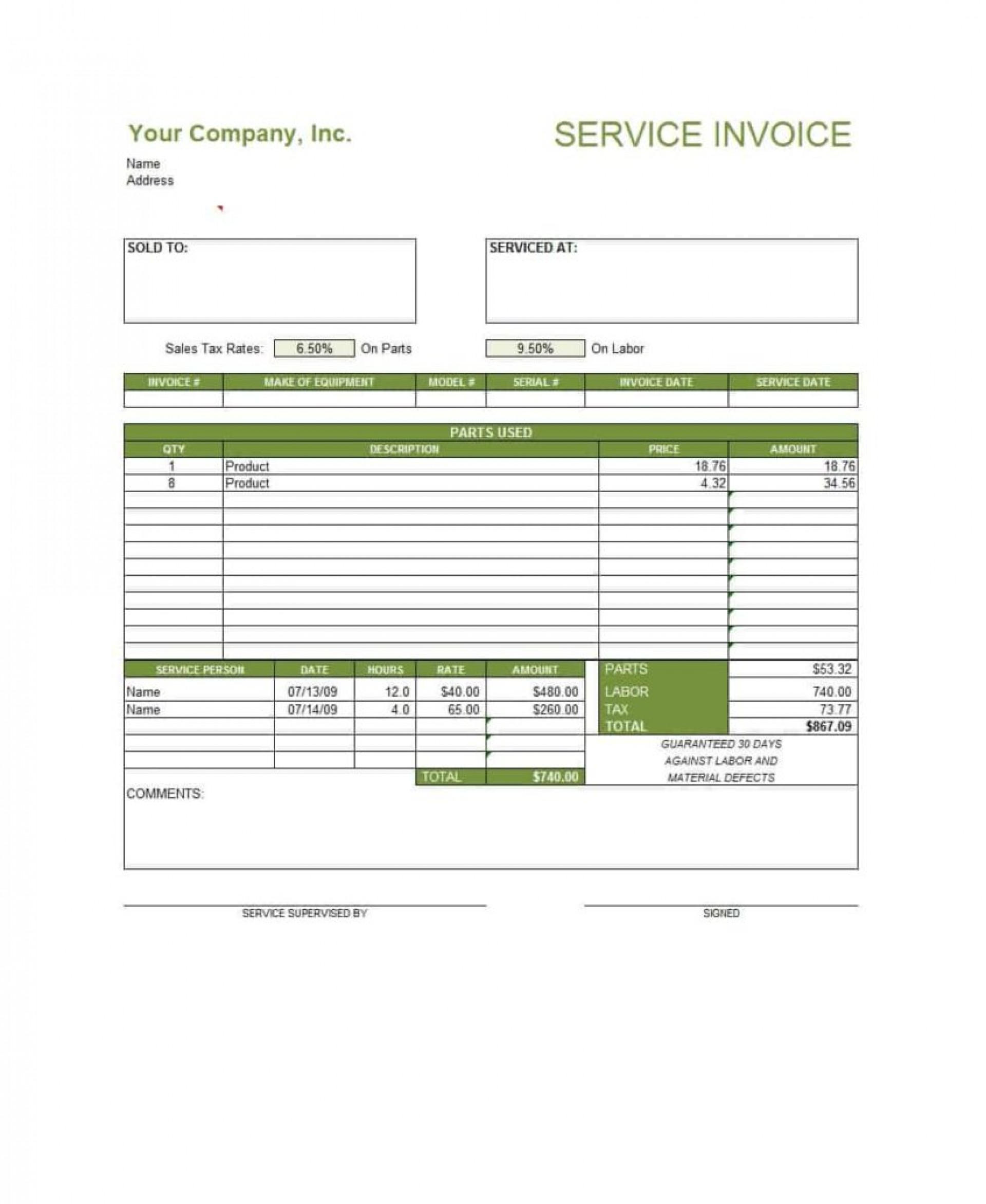 Word Microsoft Office Word Invoice Templates Free