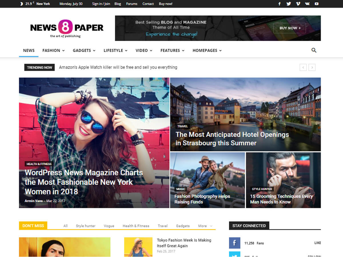 Wordpress Magazine Templates