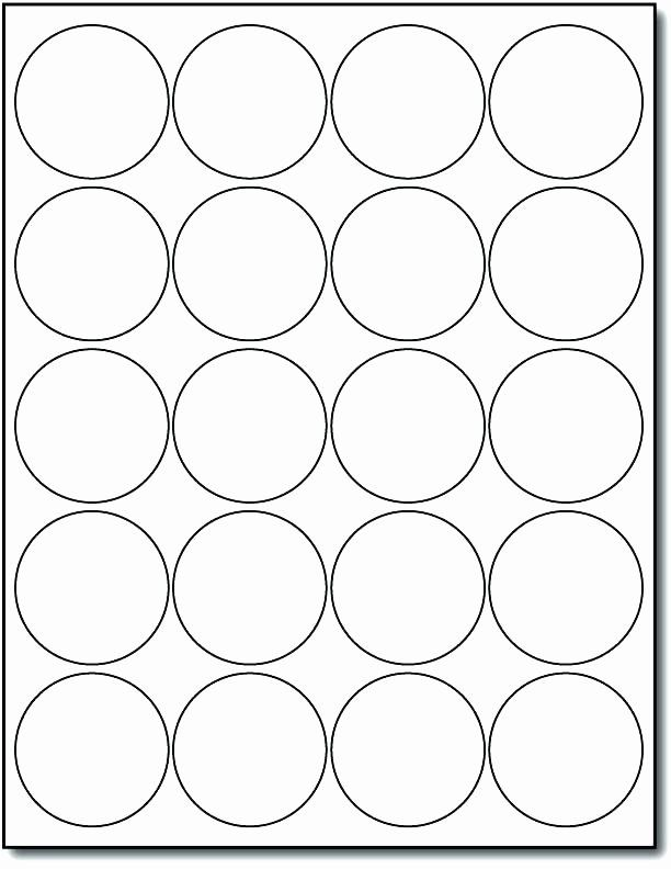 1 Inch Round Label Template