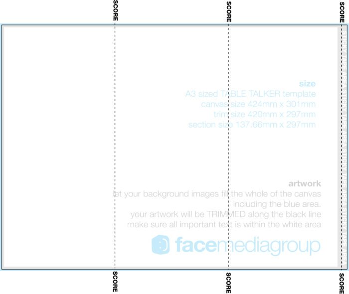3 Sided Table Tent Template