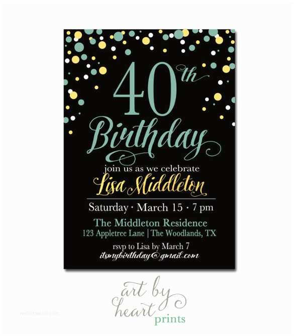 40th Birthday Invitations For Her 24 40th Birthday Invitation Templates ? Psd Ai