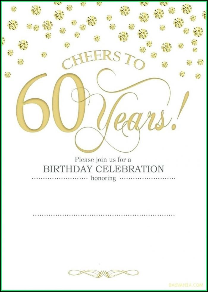 60th Birthday Invitation Templates Microsoft Word