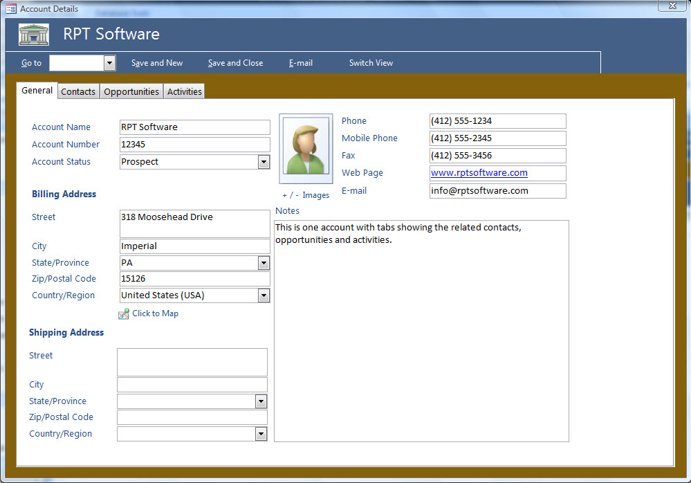 Access Crm Template