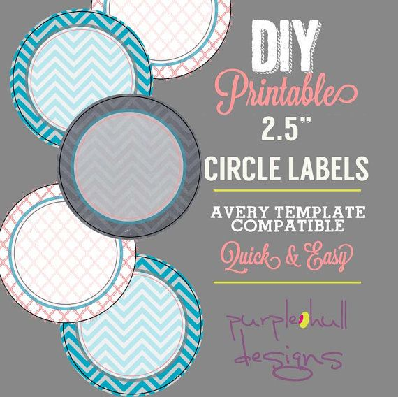 Avery Circle Label Template