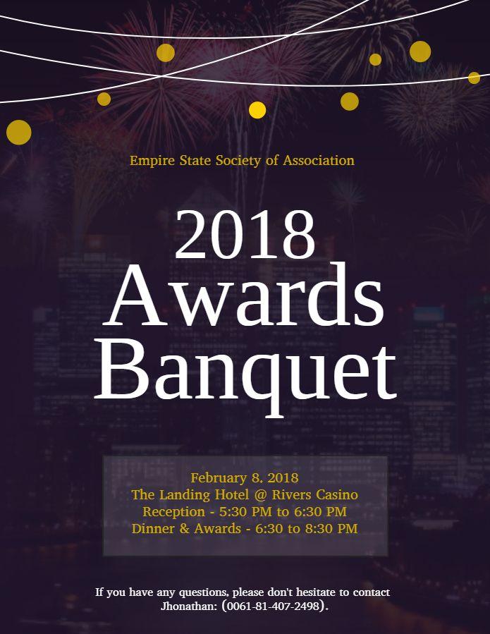 Awards Dinner Invitation Templates