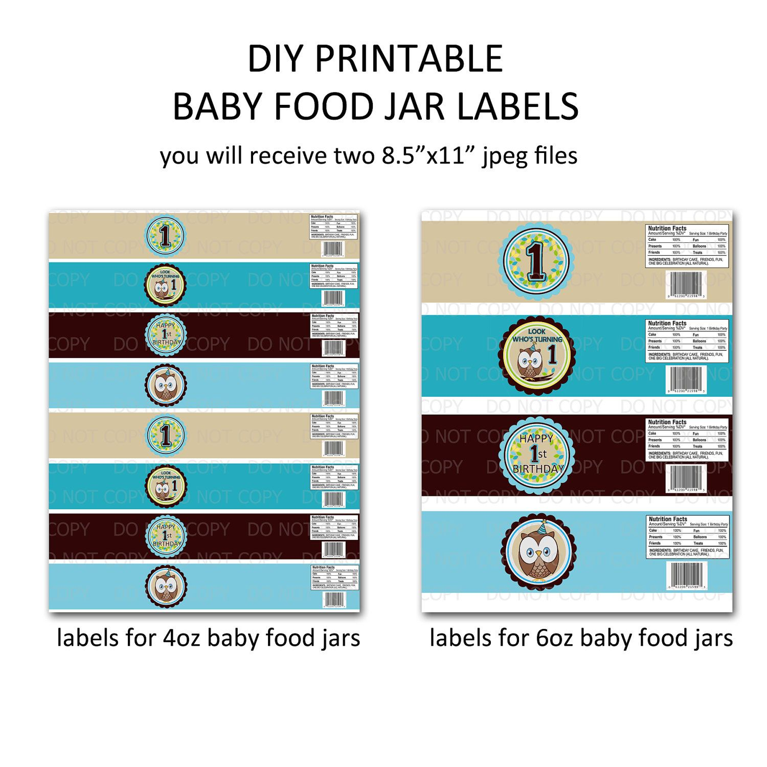 Baby Food Jar Label Template