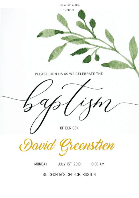 Baptism Invite Template