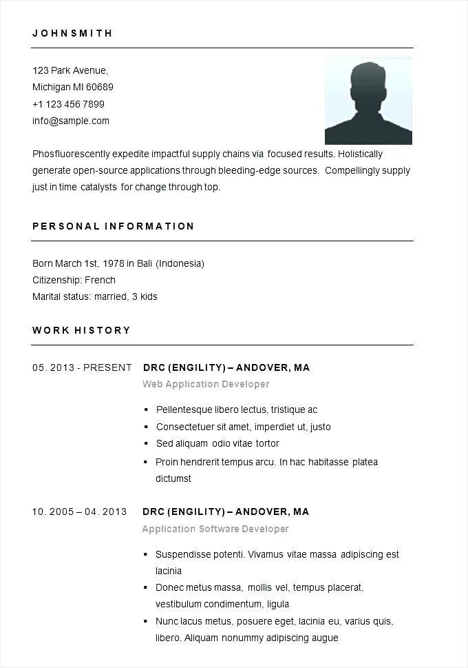 Basic Resumes Templates Free