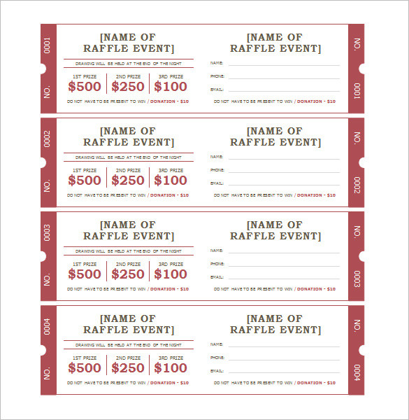 Fundraiser Tickets Template Free New Ticket Templates 99 Free Word Excel Pdf Psd Eps Formats Barbecue Collection