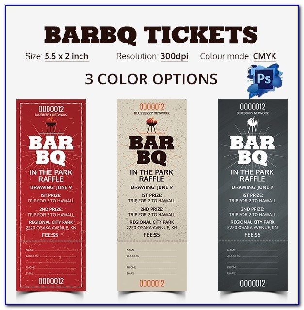 Bbq Tickets Template
