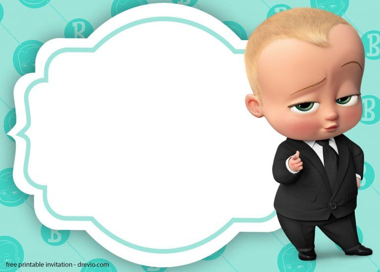 Boss Baby Christening Invitation Template