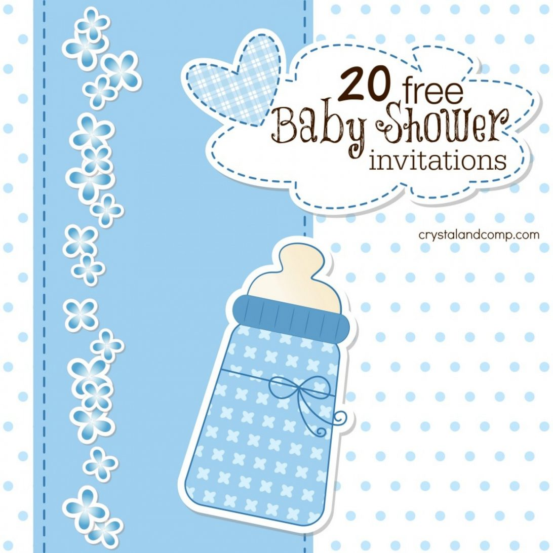 Boy Free Baby Shower Invitation Templates For Word