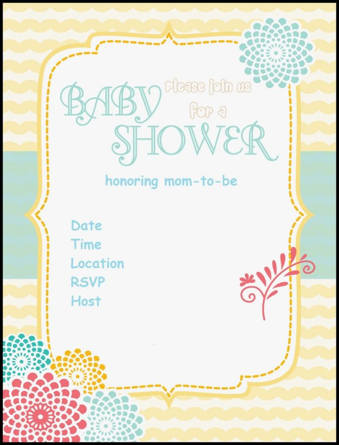 Boy Free Editable Baby Shower Invitation Templates