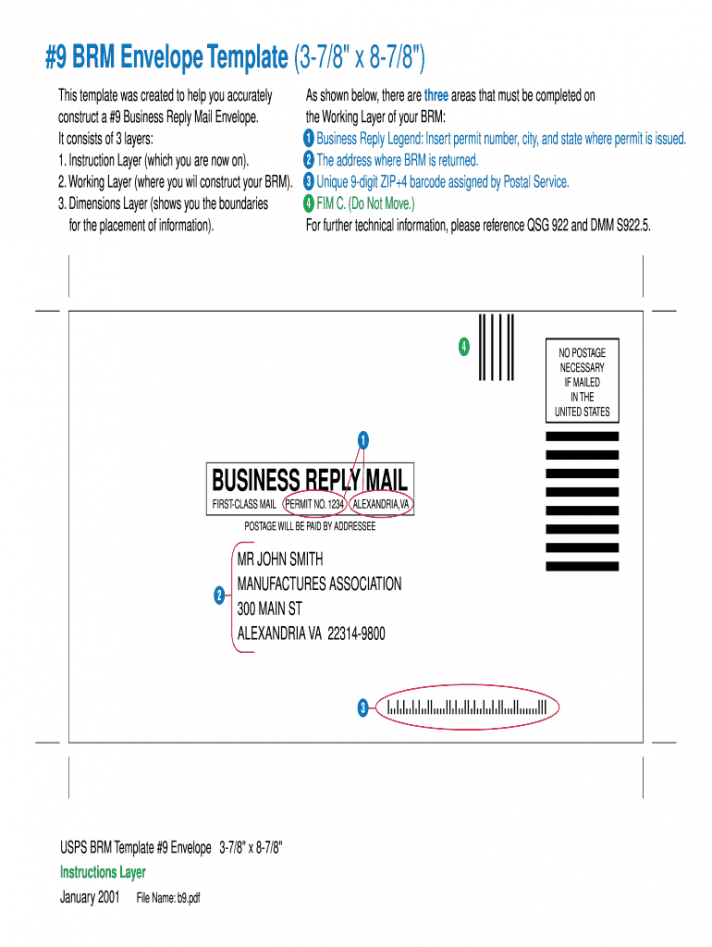 Business Reply Envelope Template