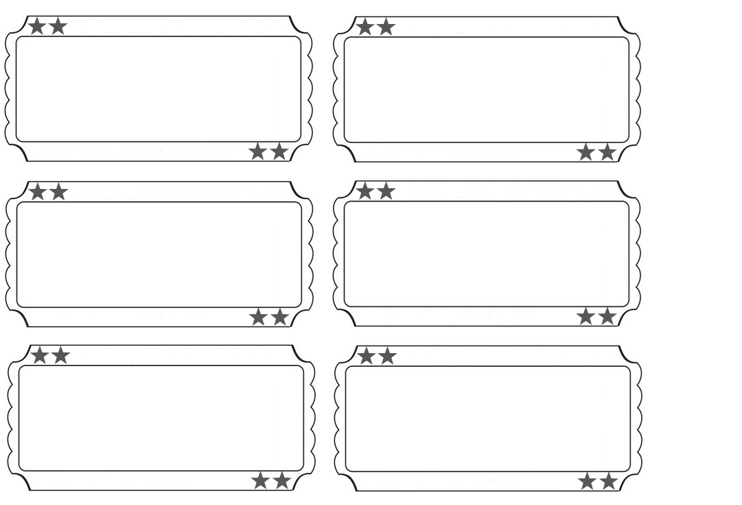 Carnival Tickets Template Printable
