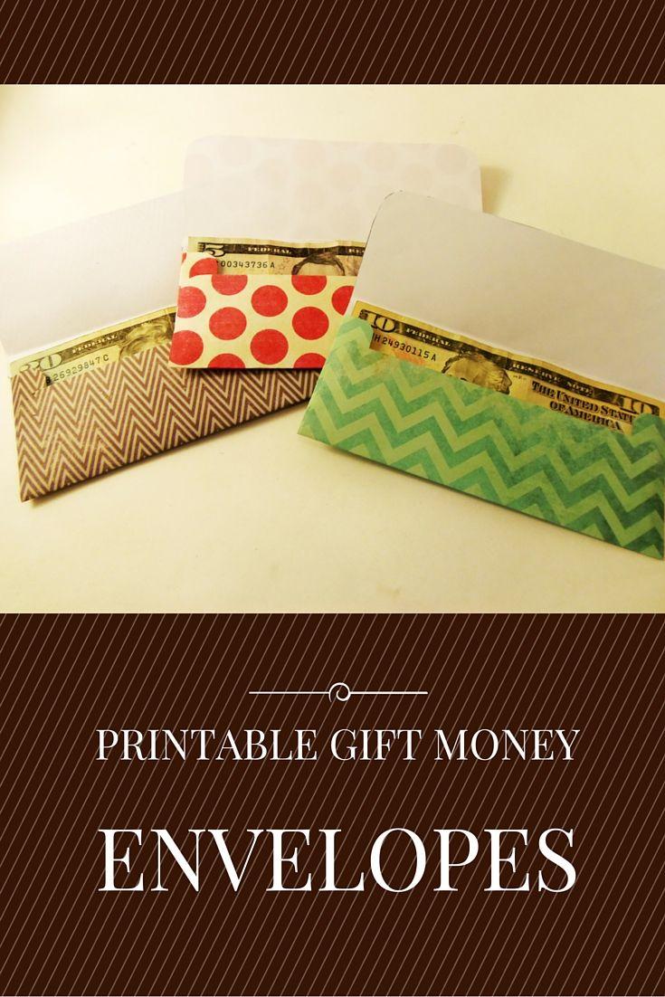 Cash Gift Envelope Template