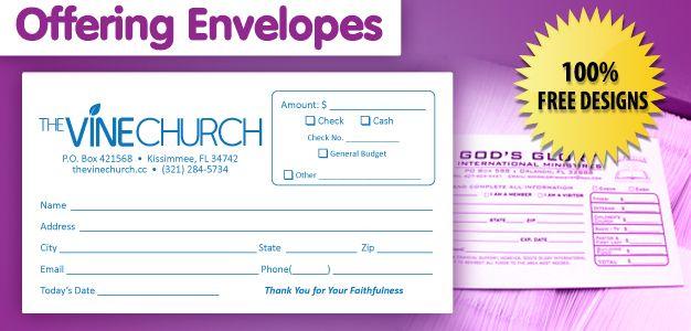 Church Tithe Envelope Template