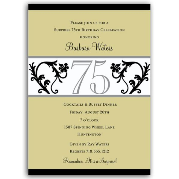Classy 40th Birthday Invitation Templates
