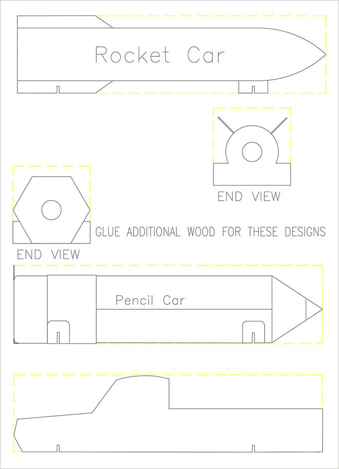 Cub Scouts Pinewood Derby Templates